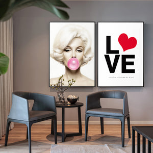Marilyn Monroe Bubbles Gum Canvas