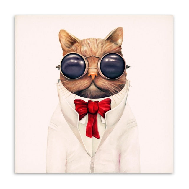 Too Cool For School Cat Wall Canvas