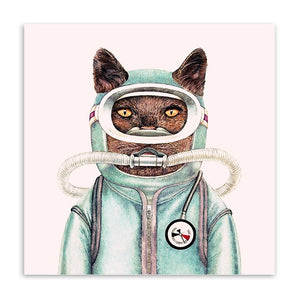 Catstronaut Wall Canvas
