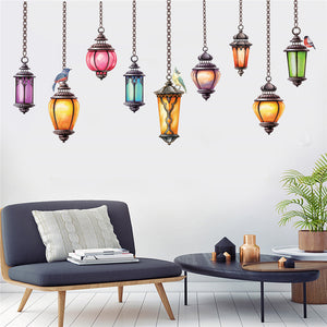 Funky String Light Wall Decal