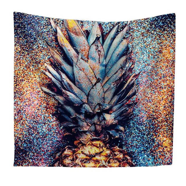 Multicolor Pineapple Tapestry