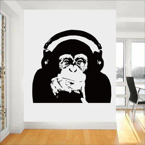 Thinking Gorilla Wall Decal