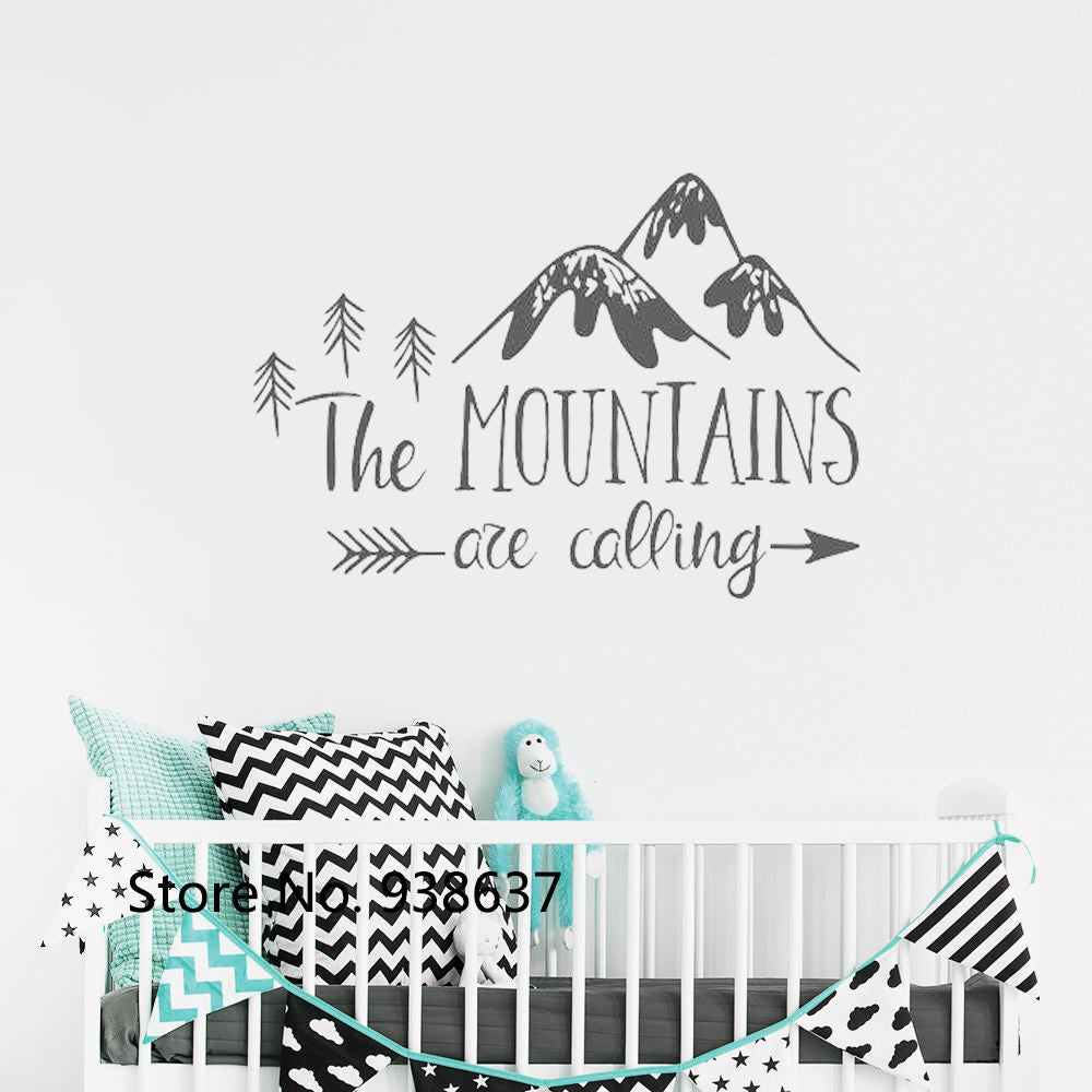 Mountains Are Calling Wall Decal