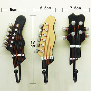Retro Guitar Three Piece Wall Hooks
