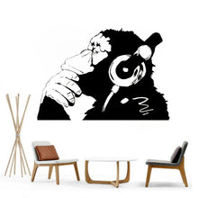 Banksy DJ Monkey Graffiti Wall Decal