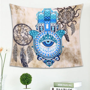 Buddhist Handprints Wall Tapestry