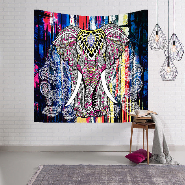 Hippie Elephant Tapestry