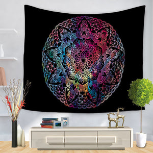 Color Gradient Mandala Tapestry