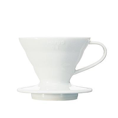 Hario V60 Coffee Dripper 01 Ceramic / White - في ٦٠ هاريو سيراميك ابيض - EQUAL Coffee Hub