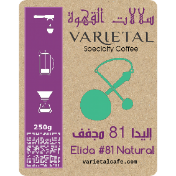Elida Natural Lot #81 - إليدا مجفف ميكرولوت 81 من بنما - EQUAL Coffee Hub
