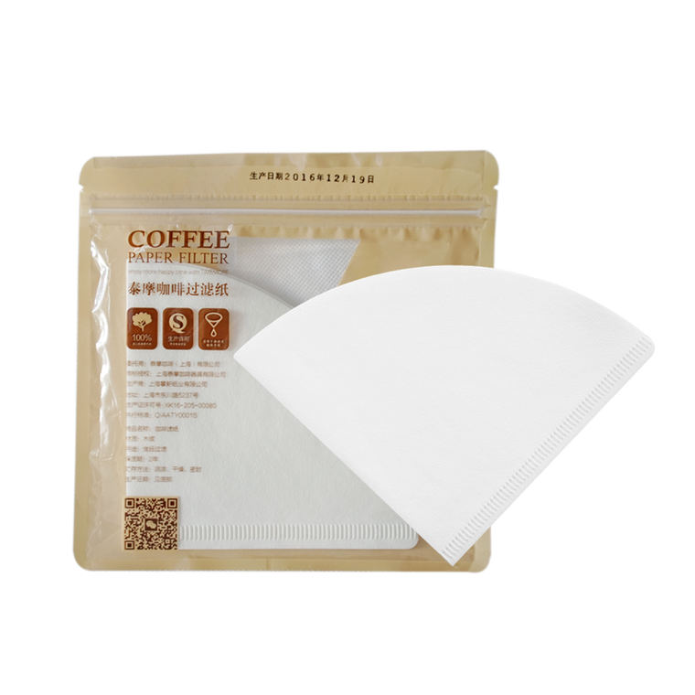 Timemore Filiter Paper 01 (v60) White 1-2 cups - فلتر تايمور - EQUAL Coffee Hub