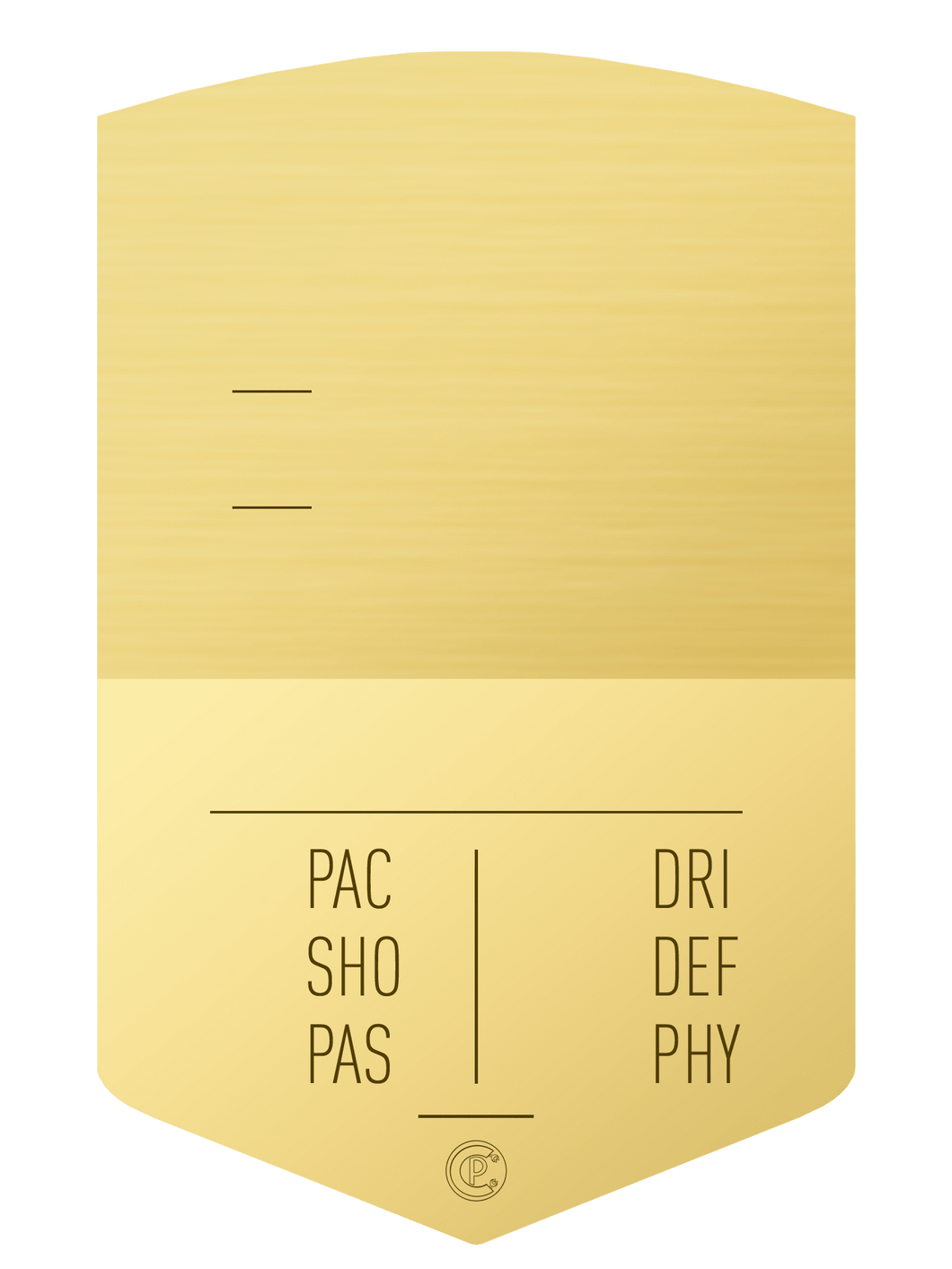 S19 Simple Gold - CardsPlug | Real life football card