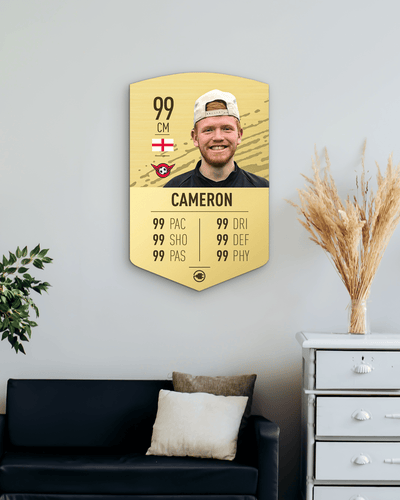 S20 Simple Gold - CardsPlug | Real life football card