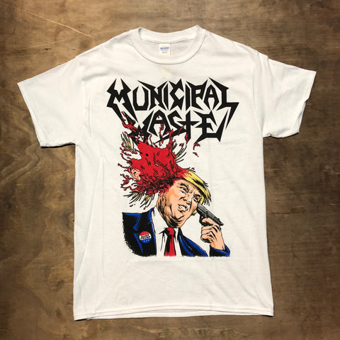 Municipal Waste Trump Walls White Shirt
