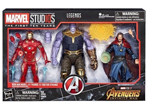 Marvel Legends Thanos, Dr. Strange, Iron Man 3-Pack