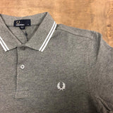 Fred Perry M3600 E30 Gray Marble / White