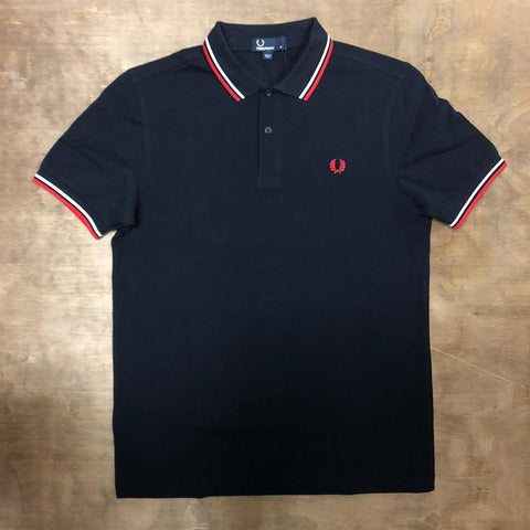 Fred Perry M3600 471 Navy / Red / White