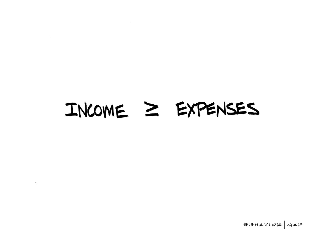 Carl Richards Behavior Gap Income and Expenses