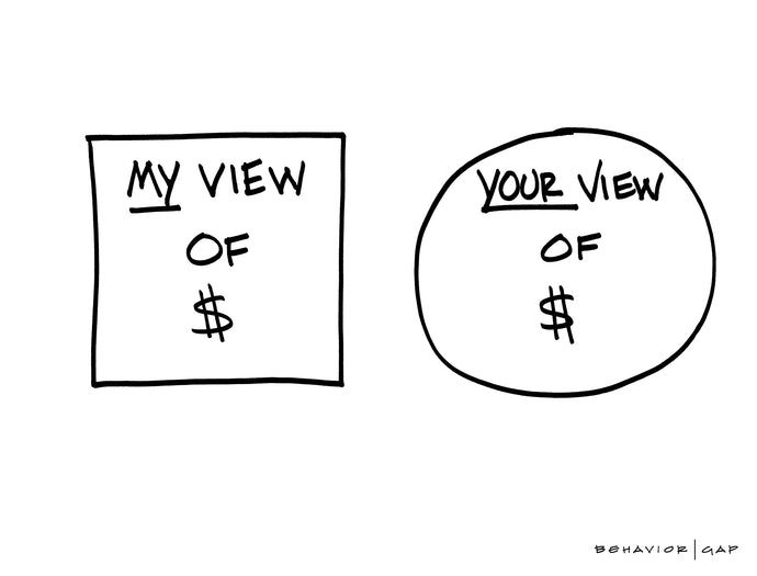 Carl Richards Behavior Gap My View Your View