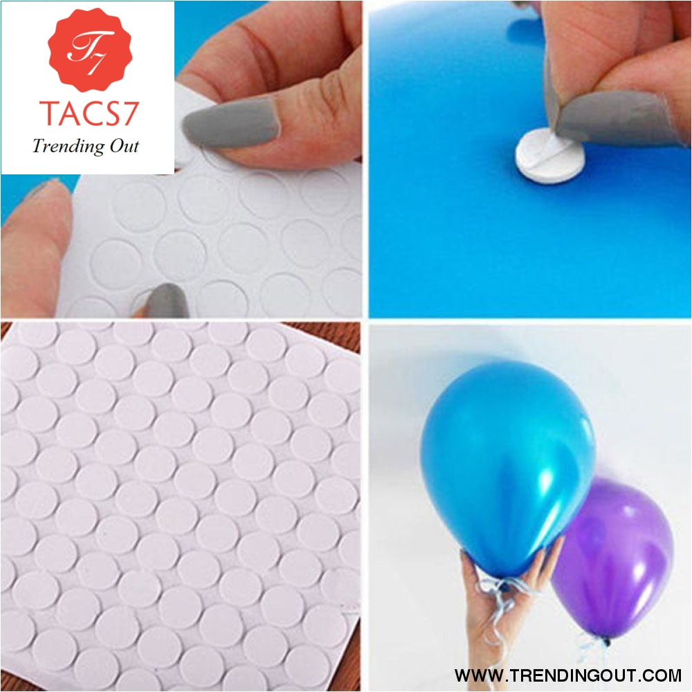 100 points Balloon attachment glue dot sticker