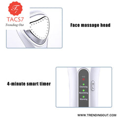 3.7V Facial Cleaner Tool Ultrasonic Vibration Heat Massager Beauty Instrument Skin Care