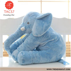 40CM 60CM 5 Colors Long Nose Plush Elephant Toy Lumbar Elephant Pillow Baby Appress Doll Bed Cushion Kids Toy Gift For Girl 40cm / Blue