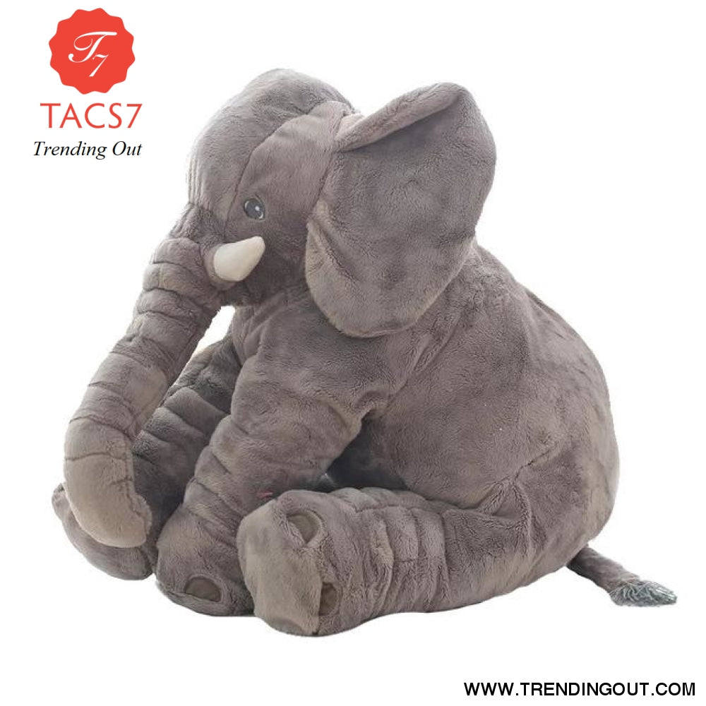 40CM 60CM 5 Colors Long Nose Plush Elephant Toy Lumbar Elephant Pillow Baby Appress Doll Bed Cushion Kids Toy Gift For Girl 40cm / Gray