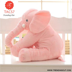 40CM 60CM 5 Colors Long Nose Plush Elephant Toy Lumbar Elephant Pillow Baby Appress Doll Bed Cushion Kids Toy Gift For Girl 40cm / Pink