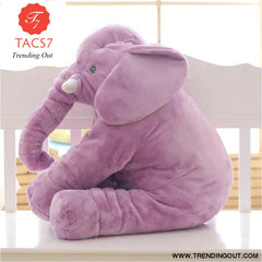 40CM 60CM 5 Colors Long Nose Plush Elephant Toy Lumbar Elephant Pillow Baby Appress Doll Bed Cushion Kids Toy Gift For Girl 40cm / Purple