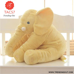 40CM 60CM 5 Colors Long Nose Plush Elephant Toy Lumbar Elephant Pillow Baby Appress Doll Bed Cushion Kids Toy Gift For Girl 40cm / Yellow