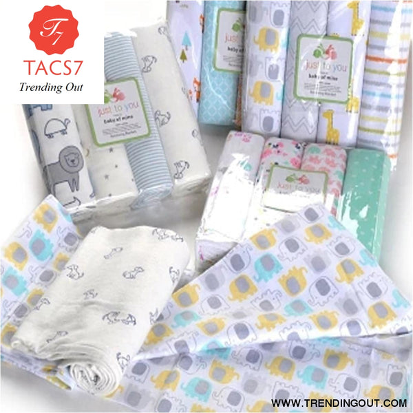 4Pcs/Lot Baby Blankets Newborn Muslin Swaddle Wrap