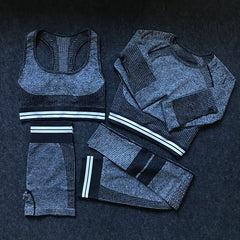 4Pcs Women Vital Seamless Yoga Sportswear Set