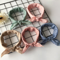 Pack of 4 - Fashion Plaid Dots Style Winter Pet Bandanas Cotton Washable Dog Bandanas Scarf Bowties Collar Pet Square Bib For Puppies Kitten