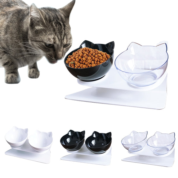 Pet Bowls Cat Food Water Feeder