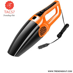 car vacuum cleaner Handheld 12V 120W Strong Suction Vacuum Cleaner For Car Wet&Dry Dual Use Spare Filter Vacuum Cleaner Orange