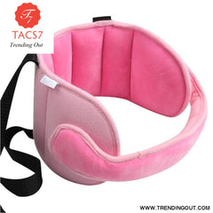 Child Car Seat Head Support Comfortable Safe Sleep Solution Pillows Neck Travel Stroller Soft Caushion pink