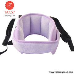 Child Car Seat Head Support Comfortable Safe Sleep Solution Pillows Neck Travel Stroller Soft Caushion purple