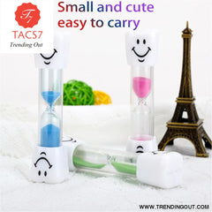 Children Kids Tooth Brushing Timer 2 Minutes Smiling Face for timing cooking games exercising Sand Timer Clock Sandglass deco