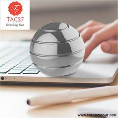 Desktop Decompression Rotating Spherical Gyroscope Kinetic Desk Toy Fidget Toy Optical Illusion Flowing Finger Toy For Children