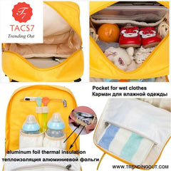 Diaper Bag Backpack Waterproof Mummy Maternity Bag Baby Care Nappy Bag Mom Curvilinear Beauty Fashion Handbag