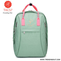 Diaper Bag Backpack Waterproof Mummy Maternity Bag Baby Care Nappy Bag Mom Curvilinear Beauty Fashion Handbag green