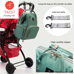 Diaper Bag USB Large Capacity Nappy Bag Waterproof Mom Maternity Travel Backpack Desinger Nursing Bag Baby Care Stroller Handbag