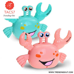 Electric Universal Crab Horizontal Standing Walking Automatic Steering Light Music Toy Light Toys Without Battery