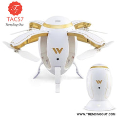 Exquisite Folding RC Quadcopter Aircaft Transformable Egg Drone G-Sensor Altitude Hold Wireless ABS 4 Channel 2.4GHz W5 white