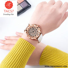 Fashion Women Watches 2019 Best Sell Rotated Dial Clock Luxury Rose Gold Womens Quartz Wrist Watches 2019 New Relogio Feminino