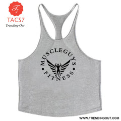 Fitness Clothing Bodybuilding Tank Top Men Gym Gray / M