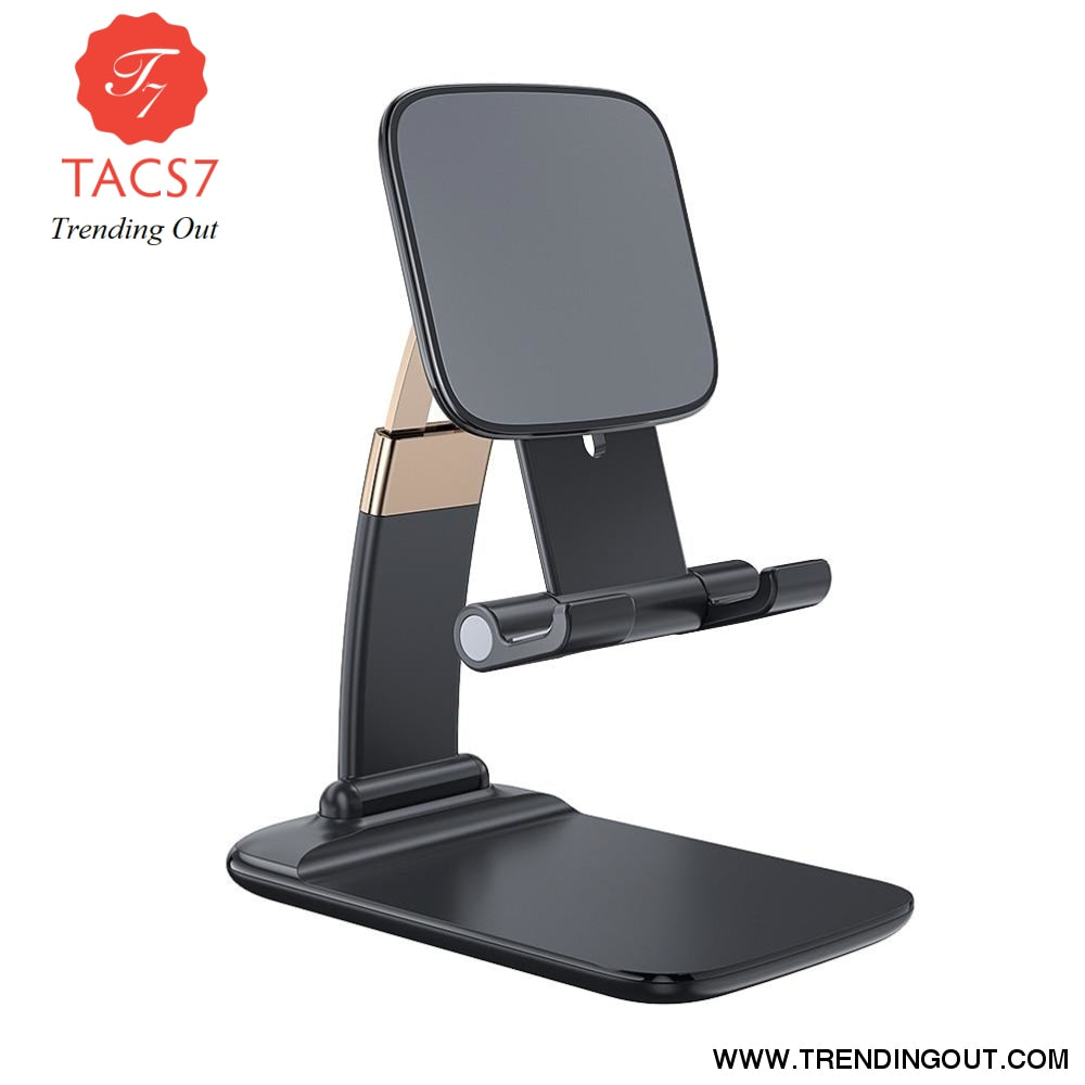 Foldable Desk Mobile Phone Holder Stand For iPhone iPad Pro Tablet Flexible Gravity Table Desktop Cell Smartphone Stand Black