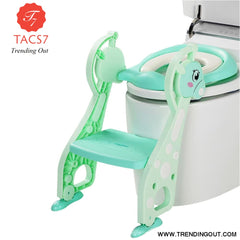 Folding Baby Kids Potty Training Toilet Chair GREEN