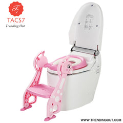 Folding Baby Kids Potty Training Toilet Chair PINK