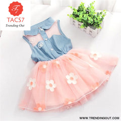 Girl Dress Baby Dresses Pattern Print Lemon Cartoon Birthday Dress Female Baby Summer Clothes Kids Girl Clothes Gold / 3M